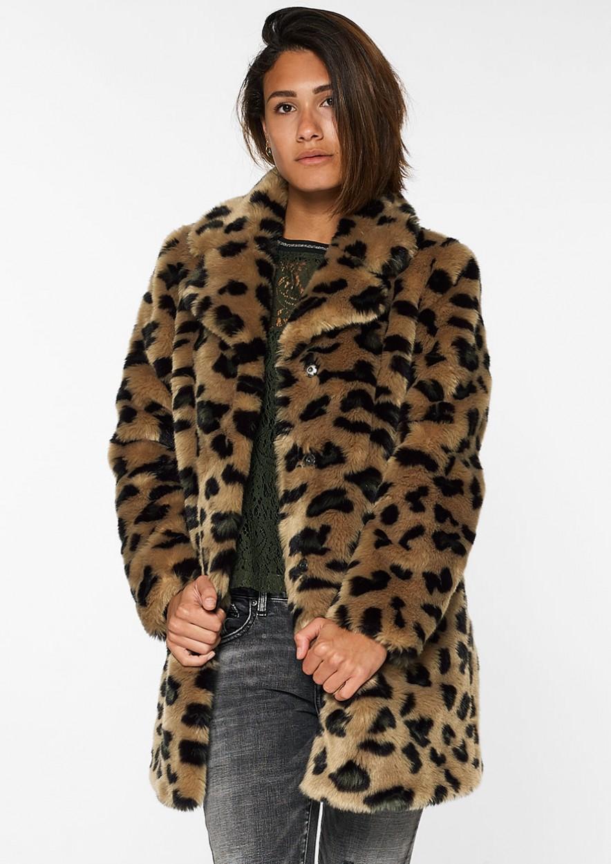 Chrissi Coat Leo Dark Army