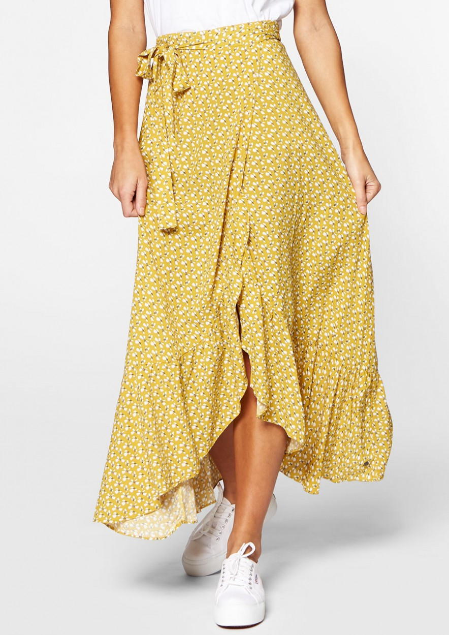 Emmy Wrap Skirt Sun Dark
