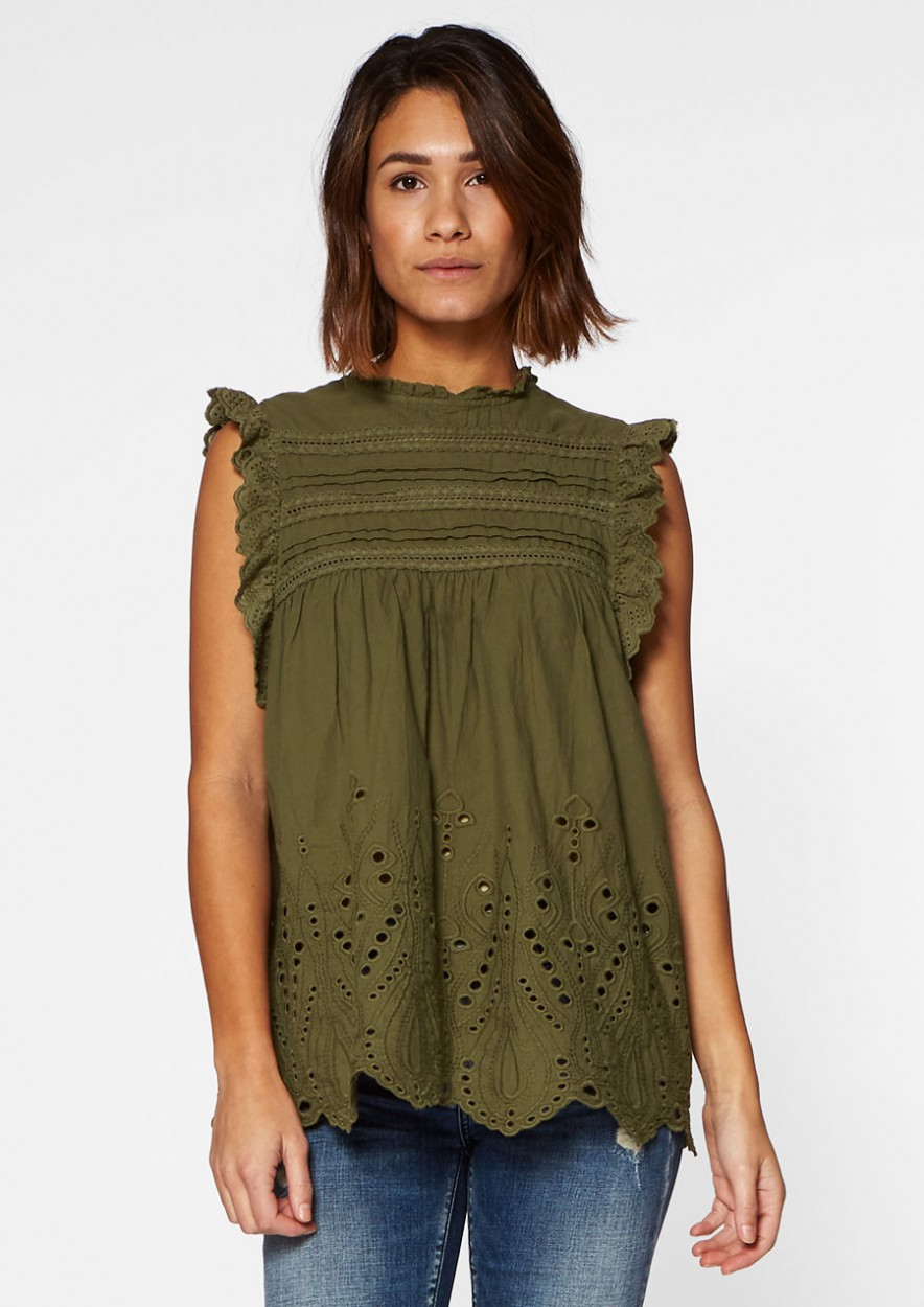 Elli Top Dark Olive