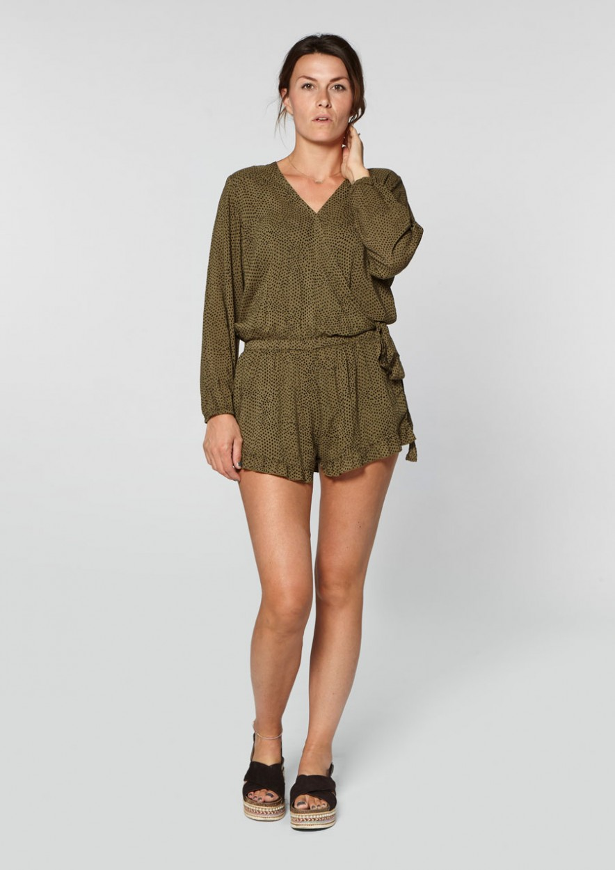 Lou Lou Playsuit Dark Olive
