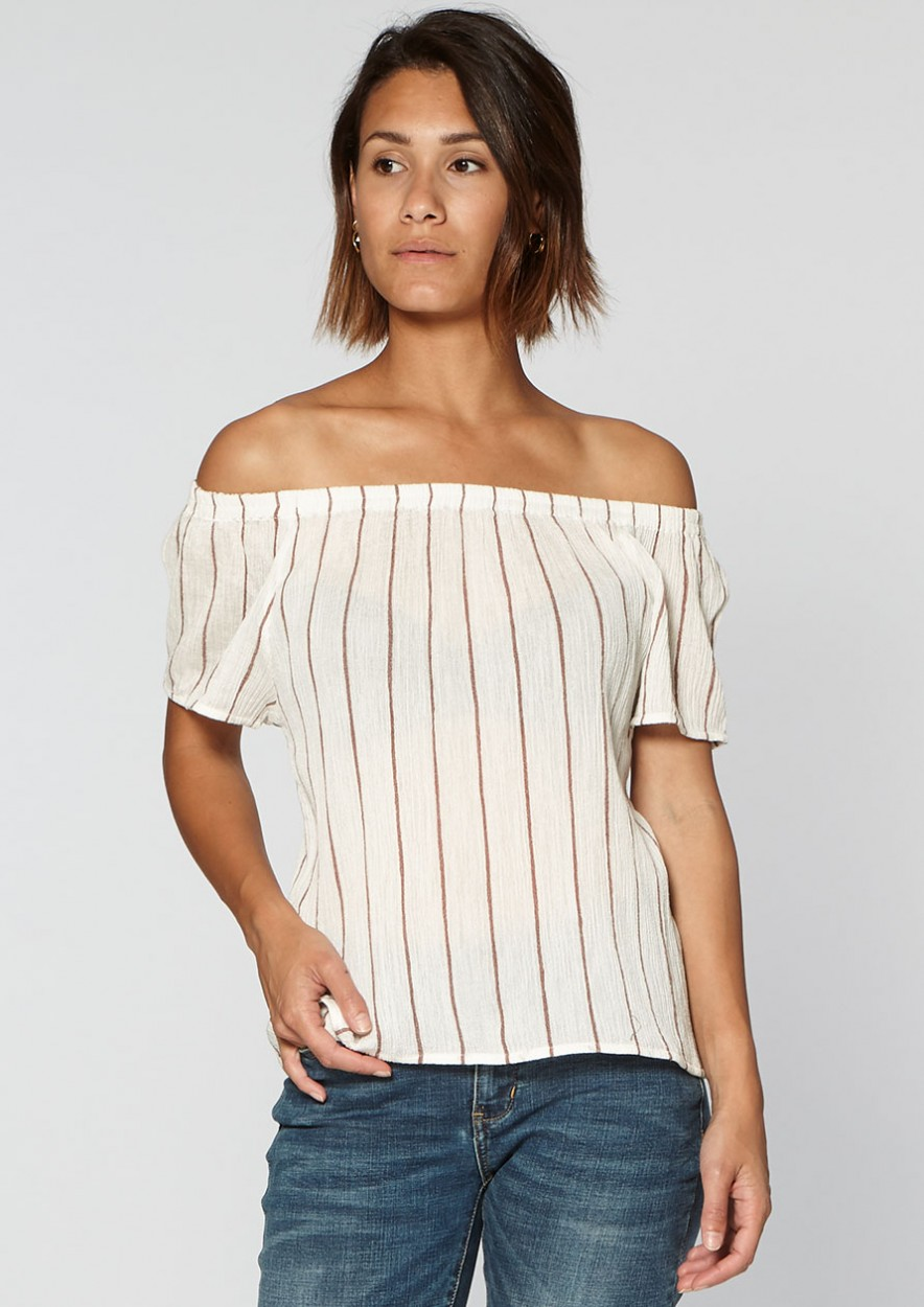 Brenda Off Shoulder White Dust