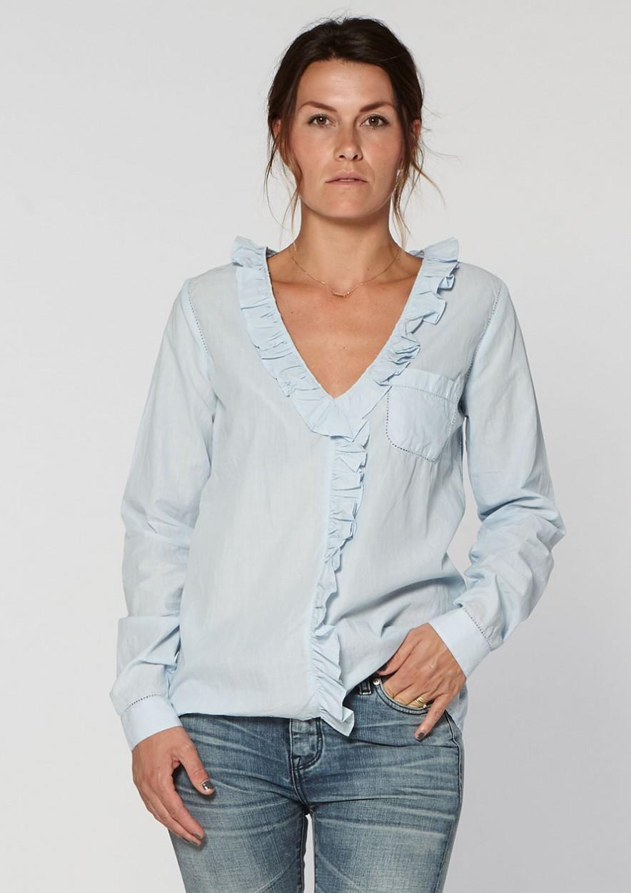 b6fb95da4e535d White blouse for women Lina White Dust