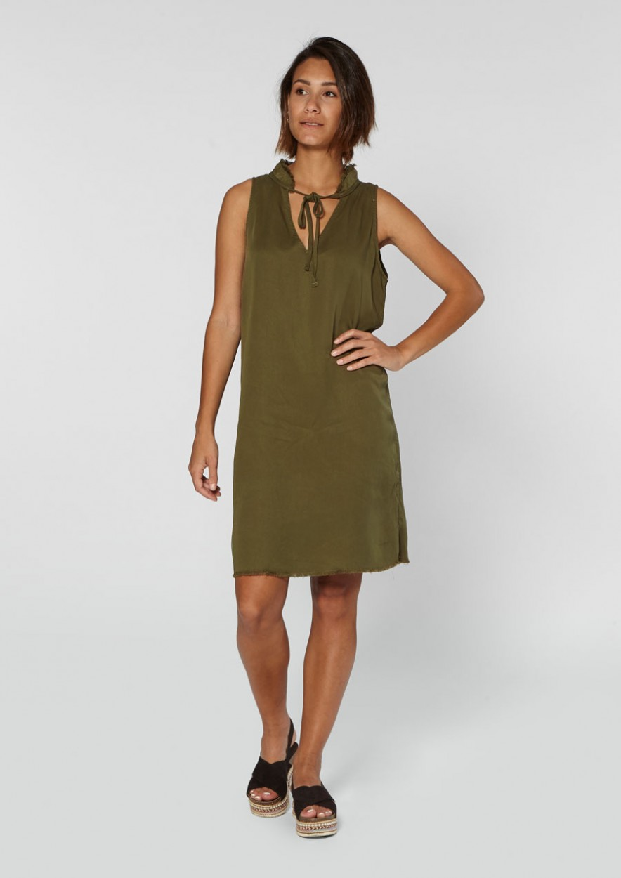 Demi Dress Dark Olive
