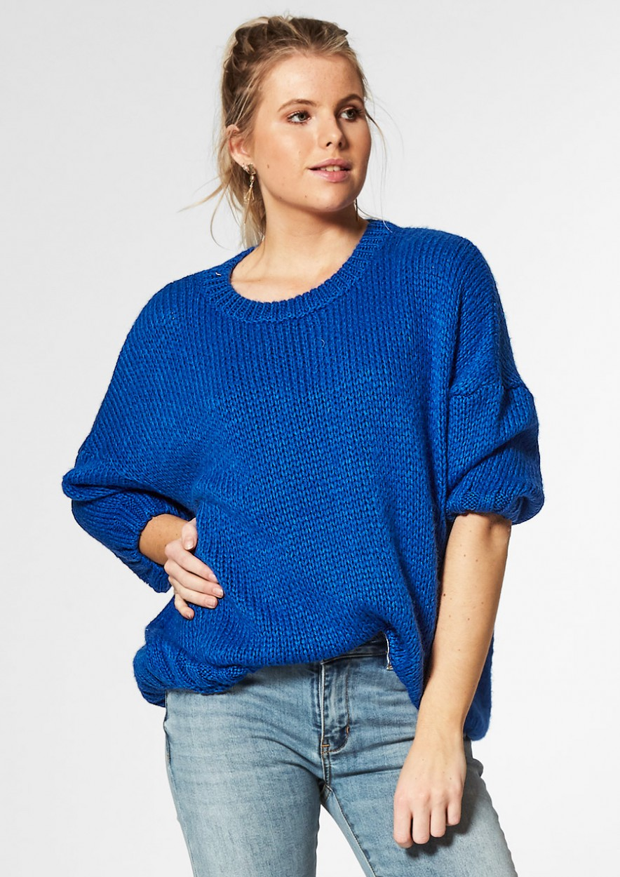 Jessie Knit Bang blue