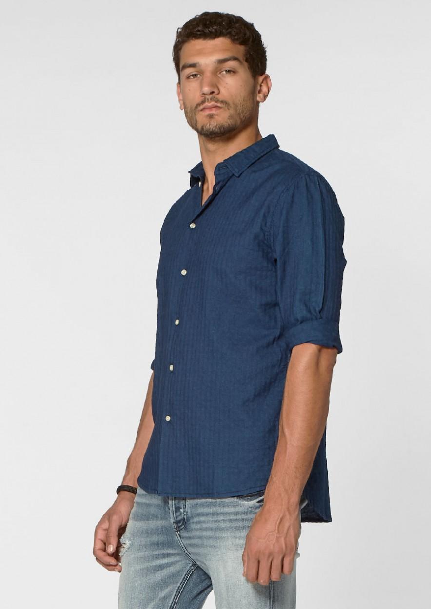 Calvin Shirt Linen Berrylike Blue