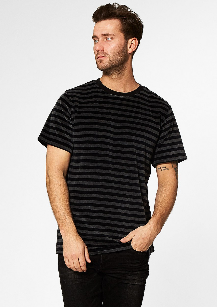Lowe Gestreept T-Shirt Zwart/grijs