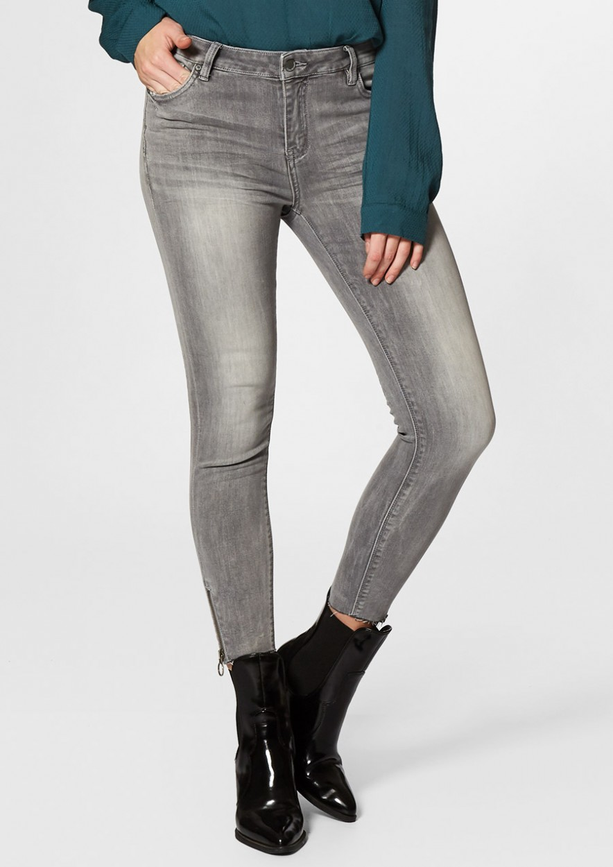 Debbie Cropped Washed Grey - Skinny Fit