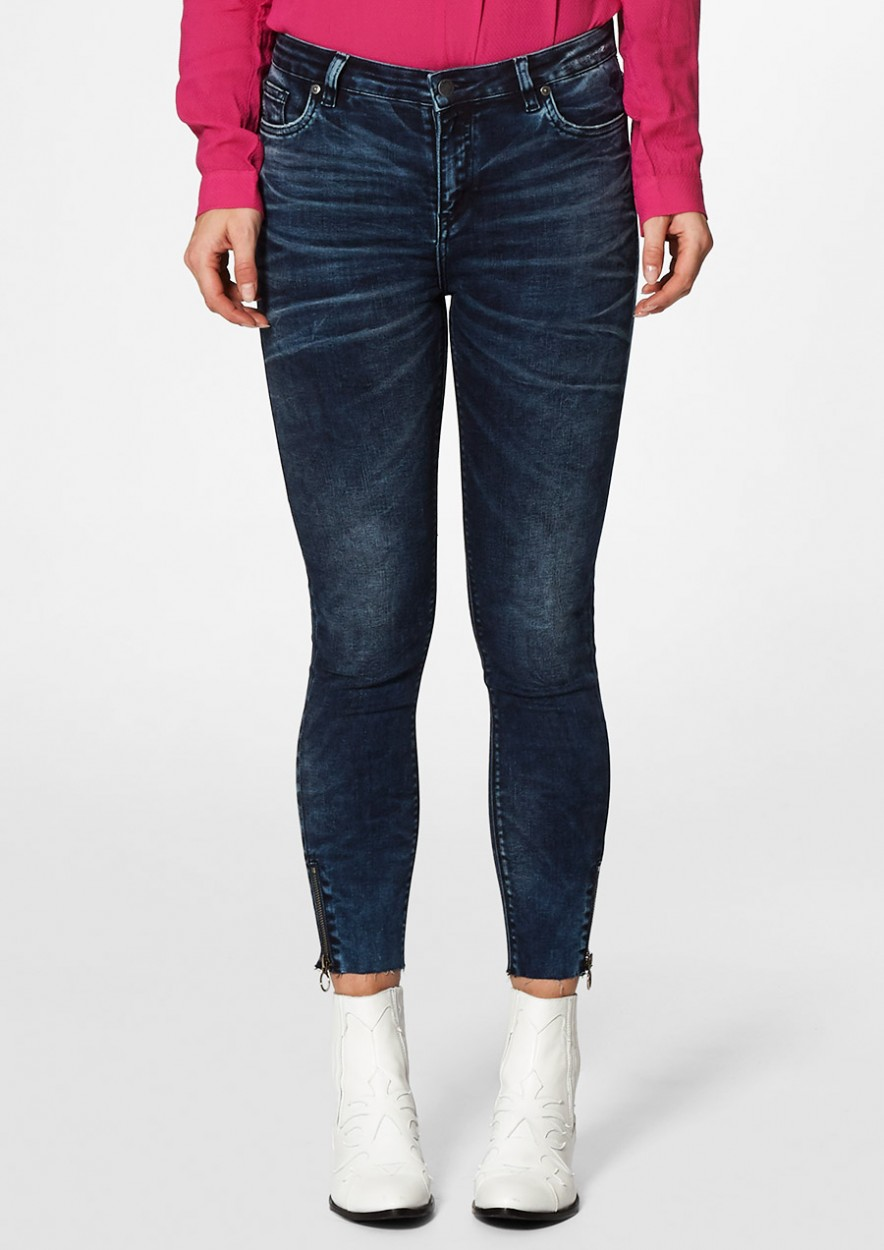 Debbie Cropped Mountain Blue - Skinny Fit