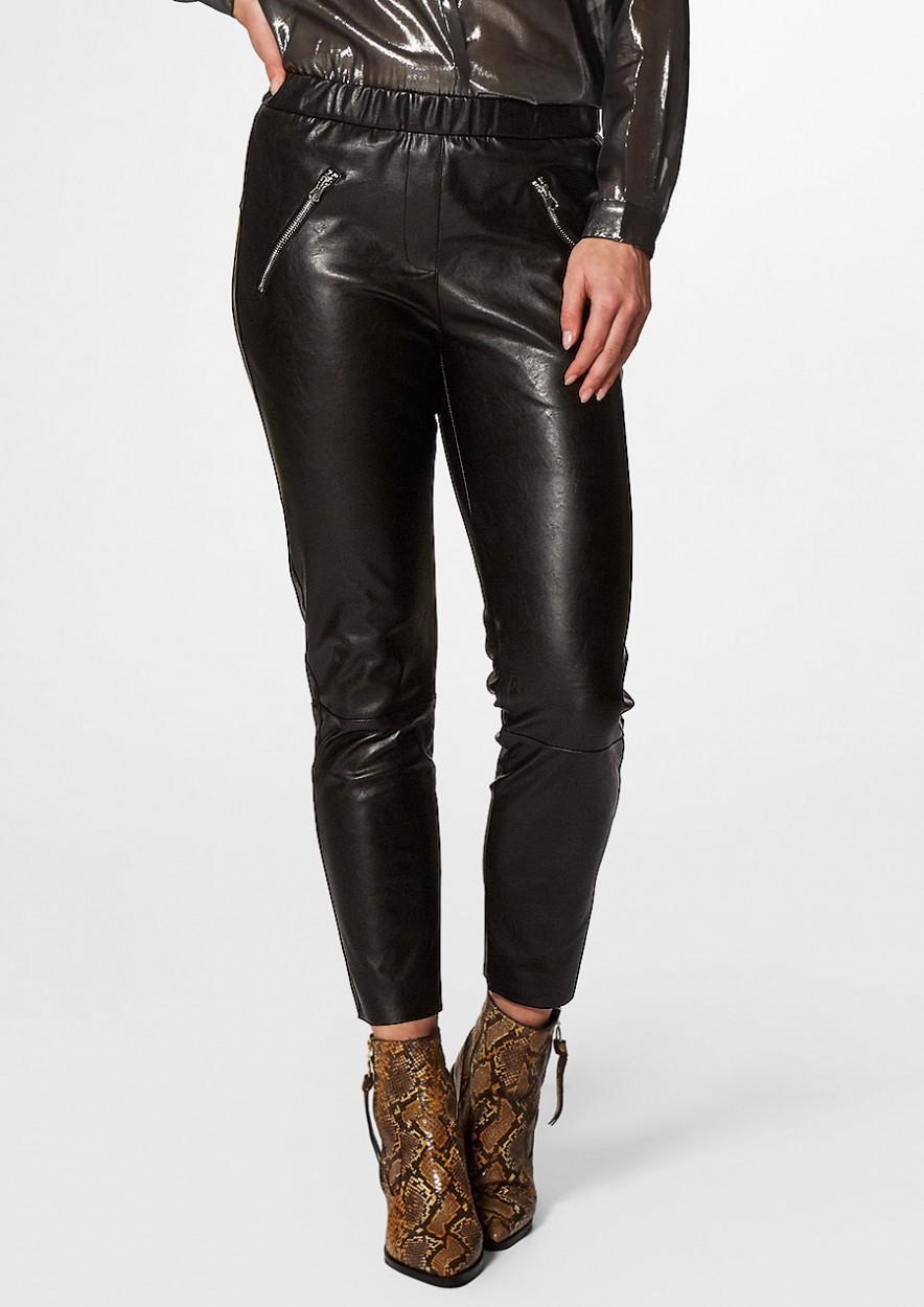 Lara Leather Pants Black