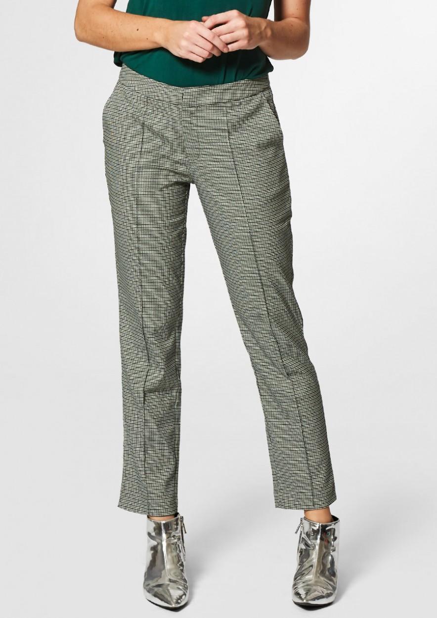 ARLY grijs/groen geruite broek