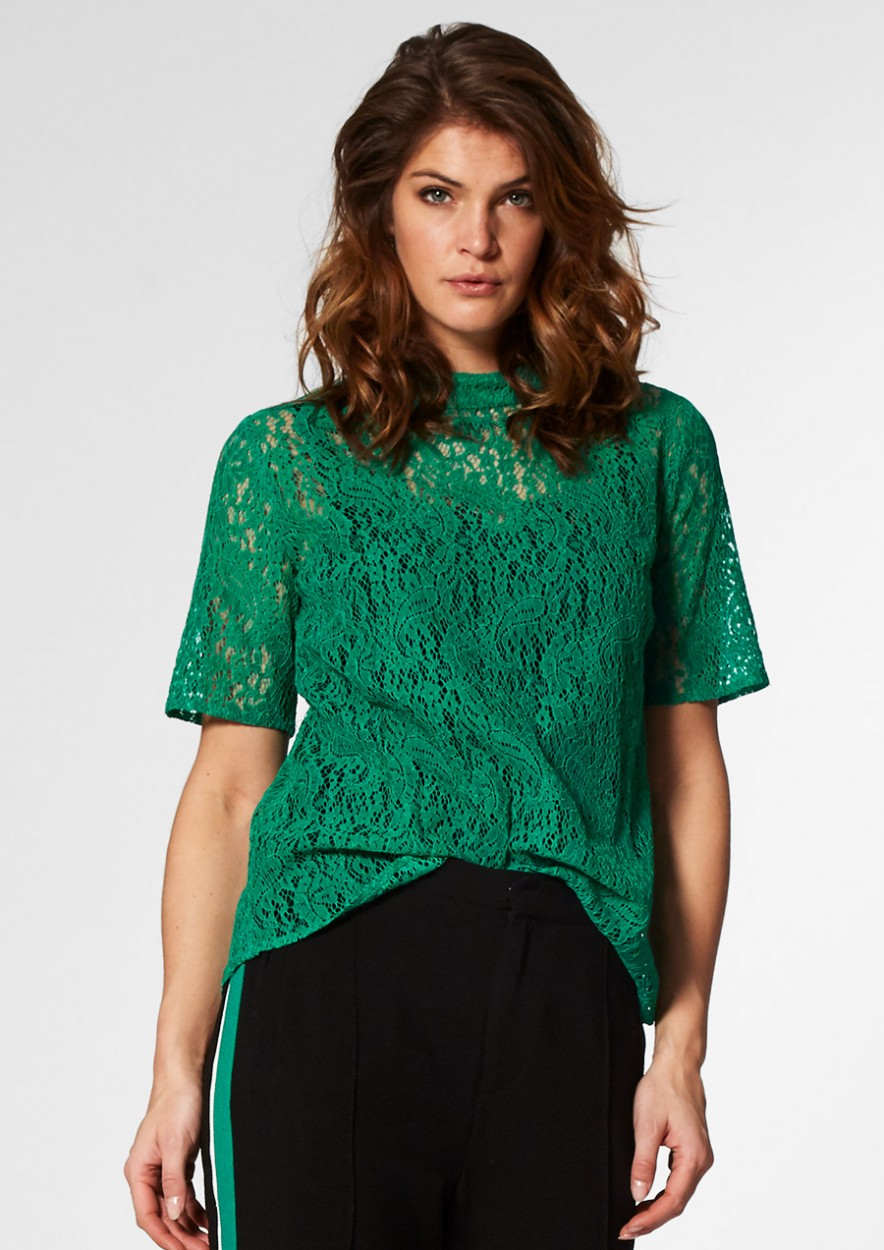 SARAH TOP Green Edge
