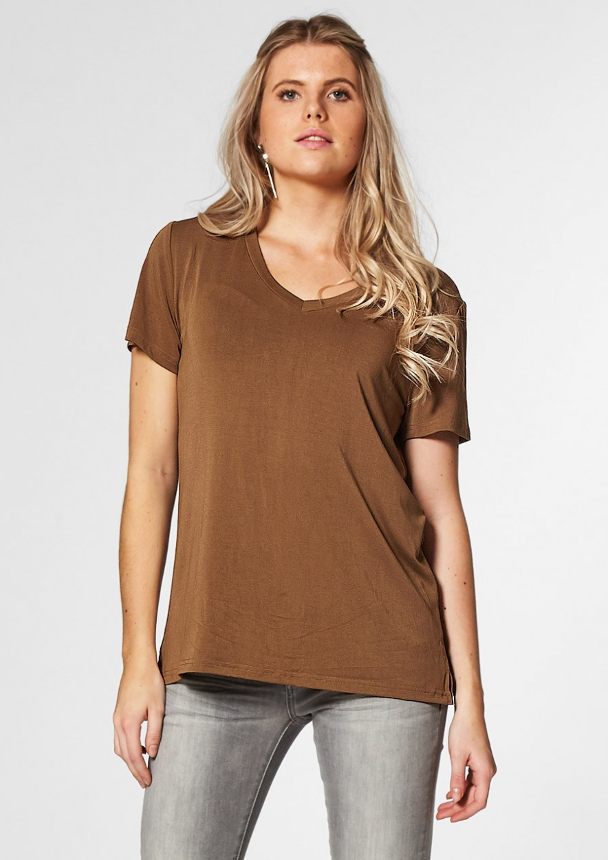 Monica Tee Dark Leaf