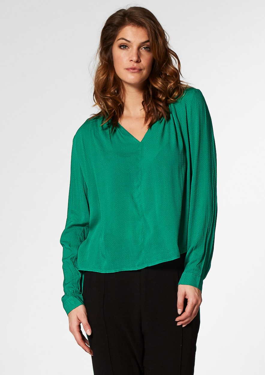 Ira Blouse Green Edge