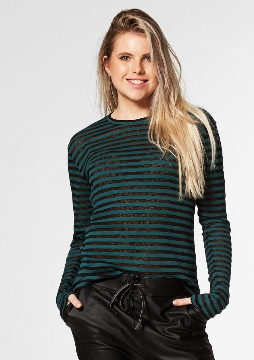 DAISY Longsleeve Groen/Zwart