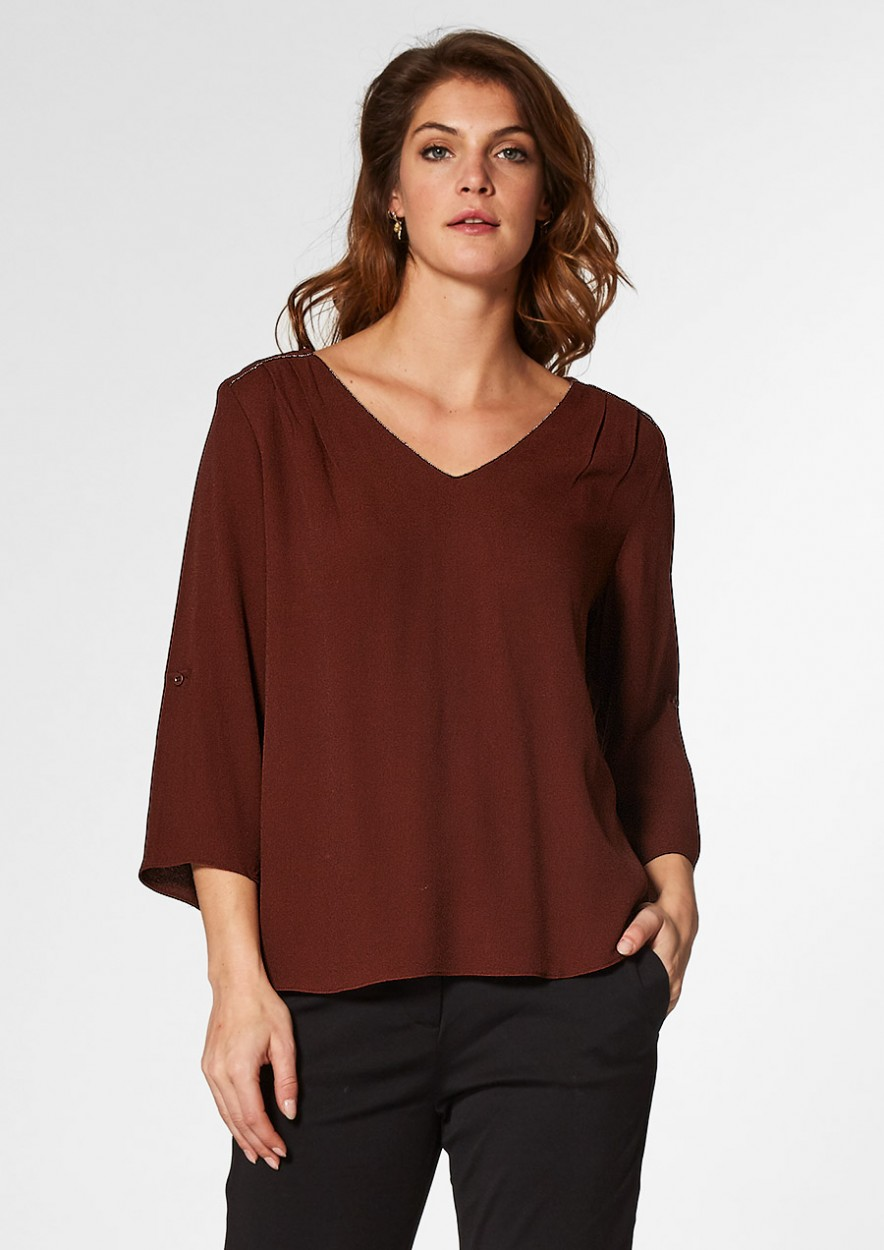 Izzy Blouse Rusty Brown