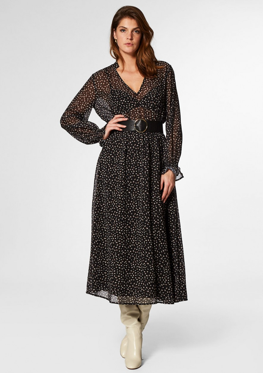 Ivana Dress Leopard Hidden Sand