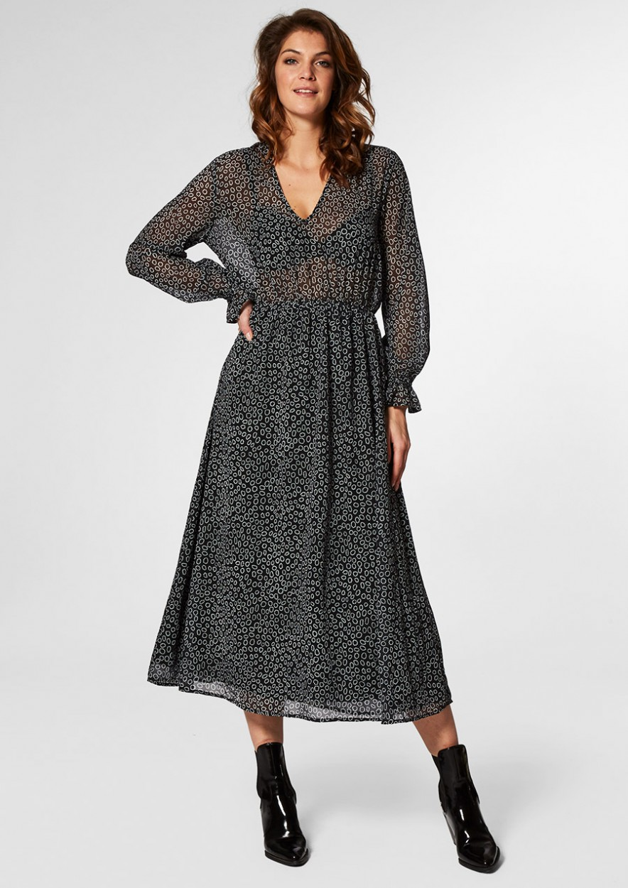 Ivana Dress Oval Dots