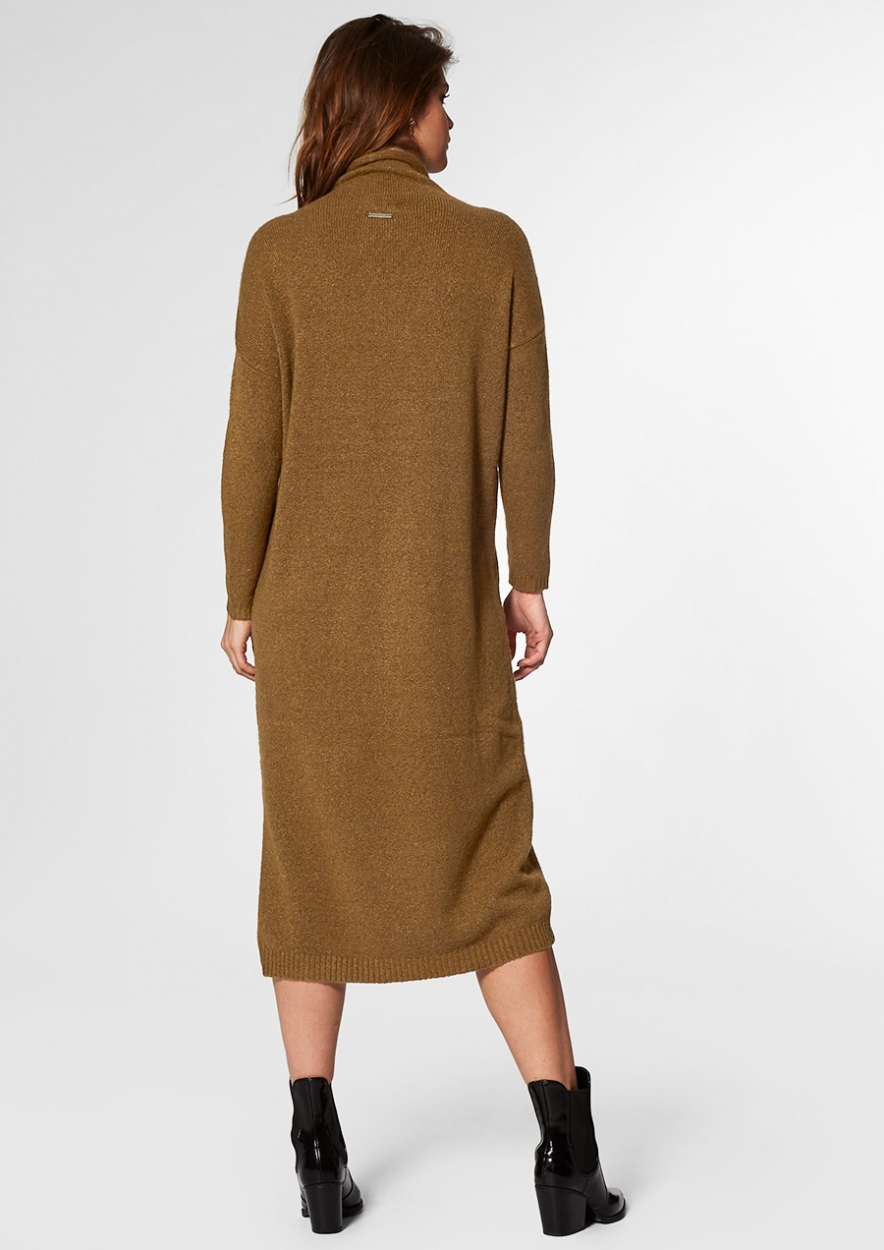 Maggie Knit Dress Dark Leaf