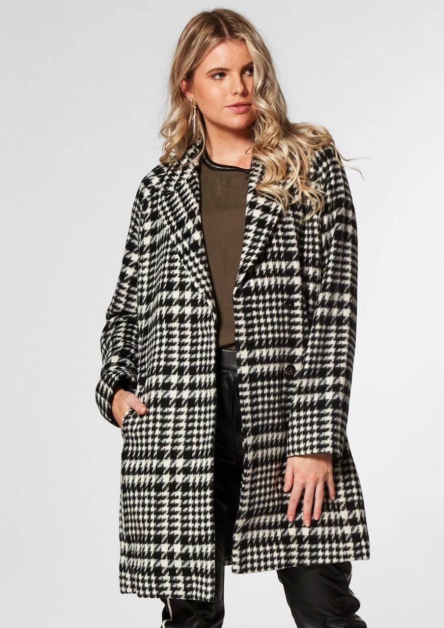 Seven Coat Black/White