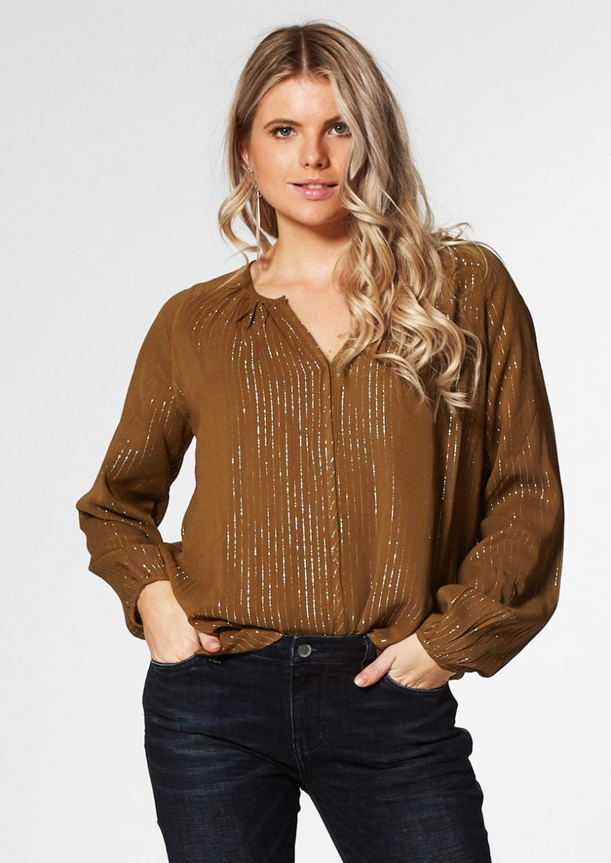 Evie Blouse Dark Leaf