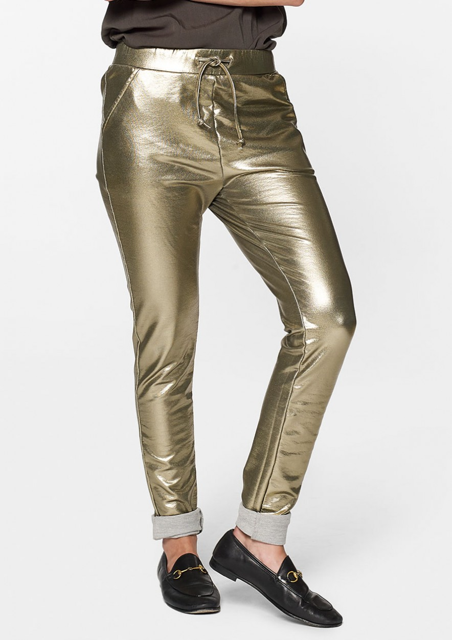 Robyn Jogg Gold Metallic