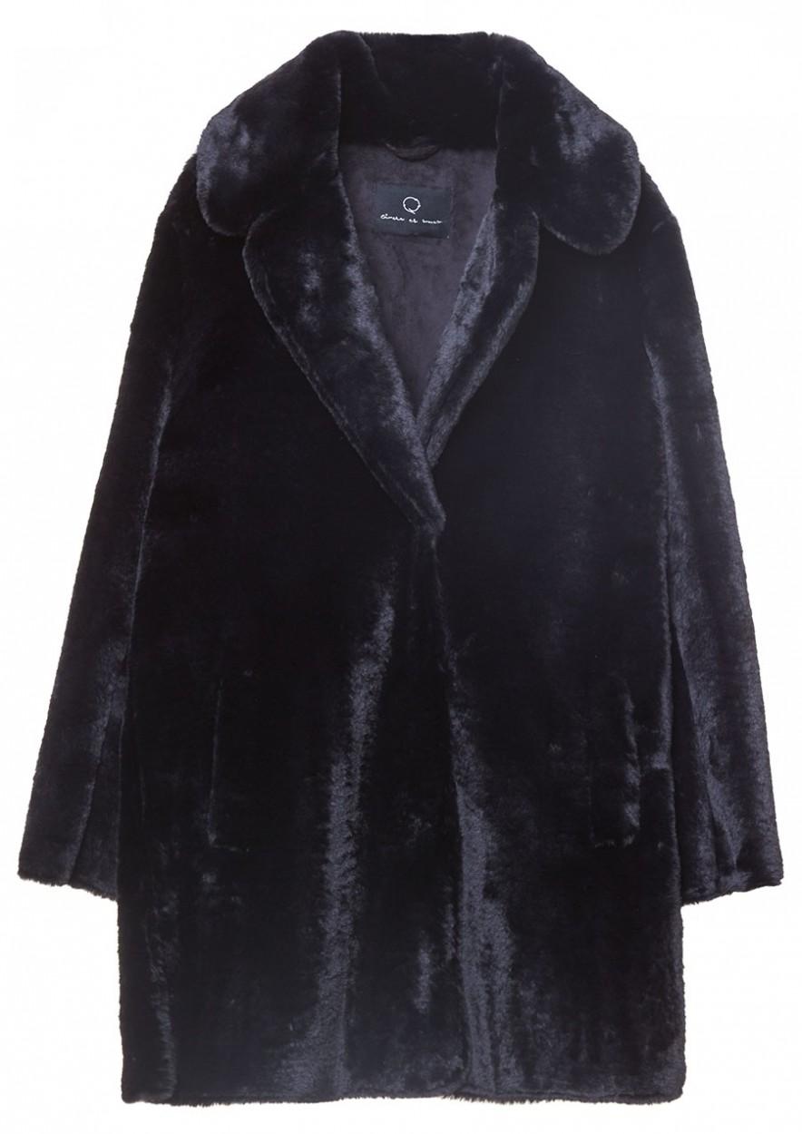 Gisele Coat Jet Black