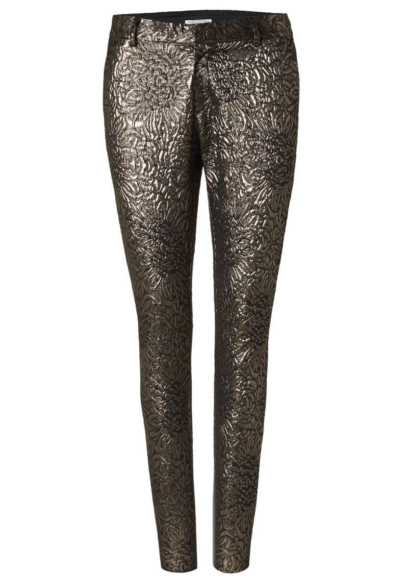 Filipa Pants Gold Metallic