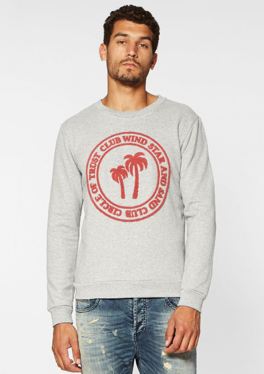 Jesse Sweat Light Grey Melange