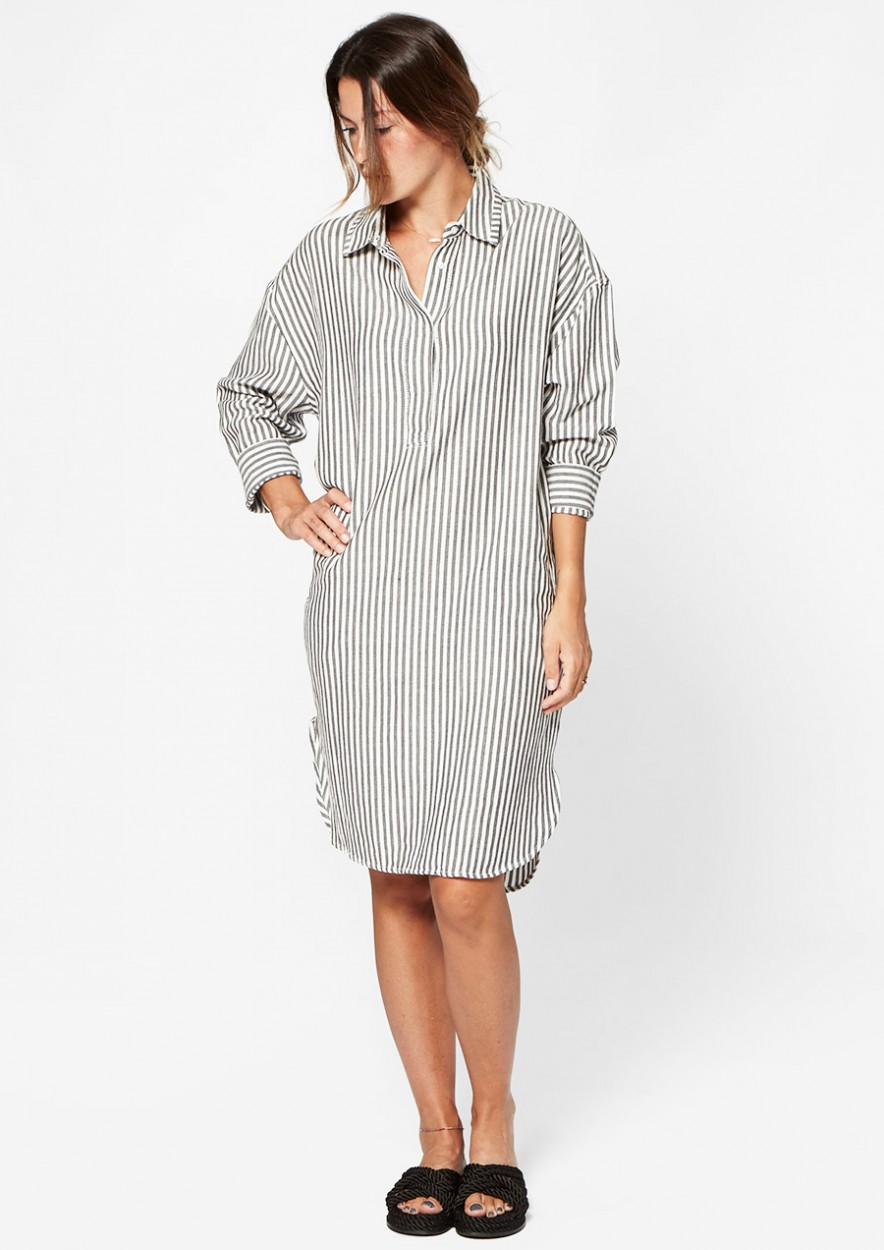 Laurie Dress Black White