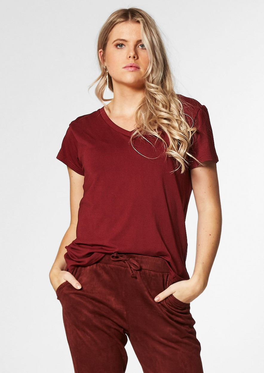 MONICA TEE Deep burn