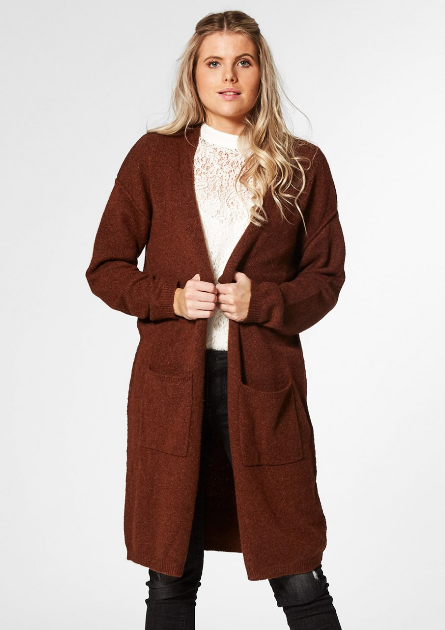 NOWY CARDIGAN Rusty brown