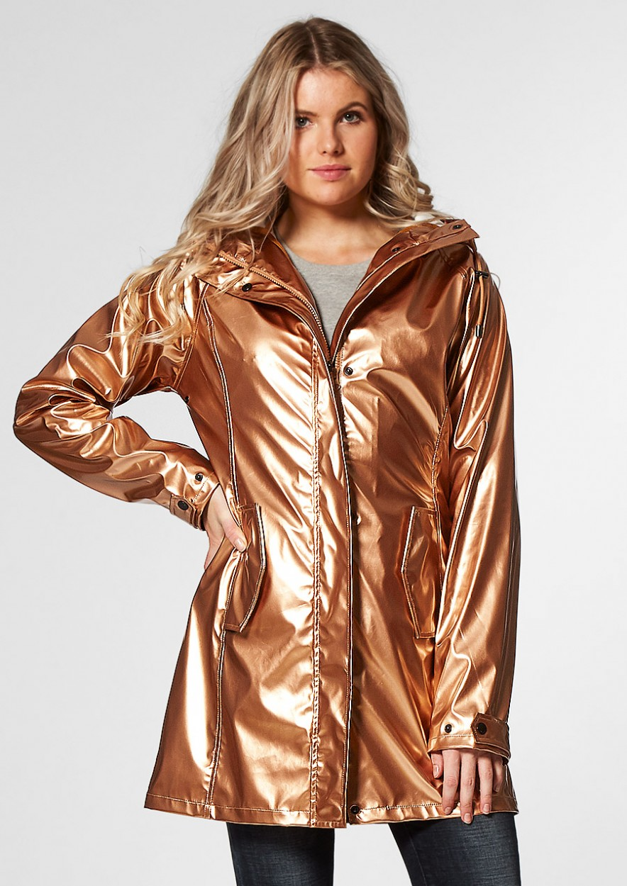 BLAKE RAINCOAT Bronze metallic