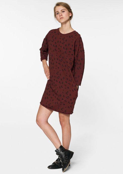 Zelia Dress Burnt Bordeaux