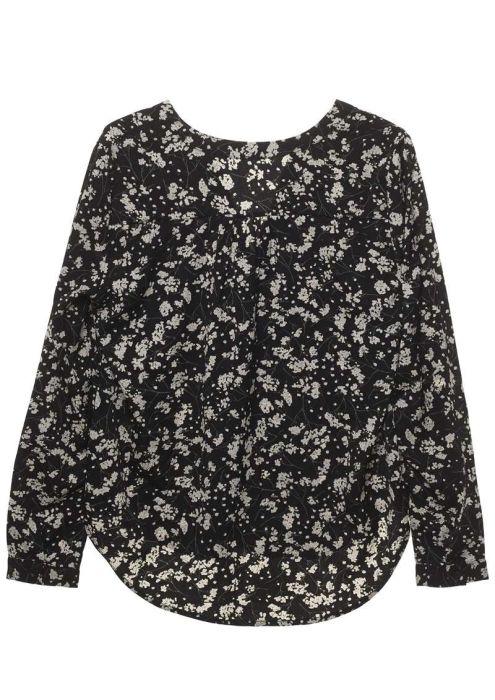 Emily Blouse Black Floral