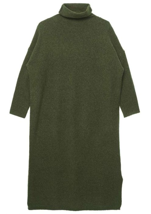 Maggie Knit Dress Grape Green Melange