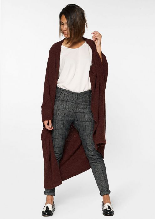 Marlie Cardigan Burnt Bordeaux Melange