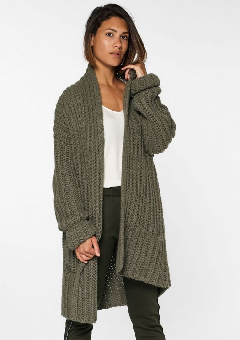 Pixy Cardigan Faded Green