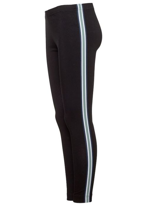 Zoe Legging Carbon Green Stripe