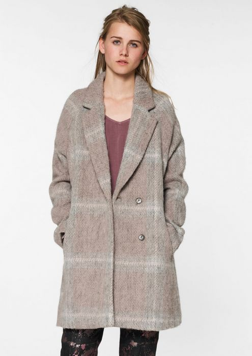 Seven Coat Light Grey Melange