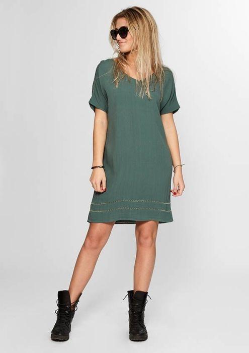 Boho Beach Dress Soft Green