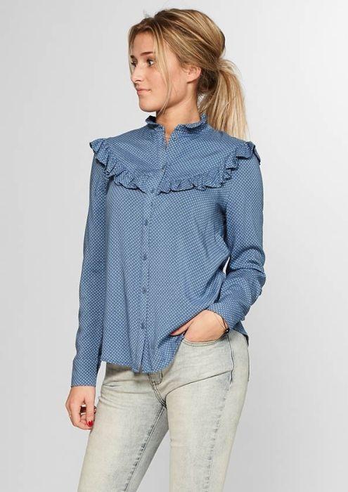 Denver Blouse Jeans Blue Dots