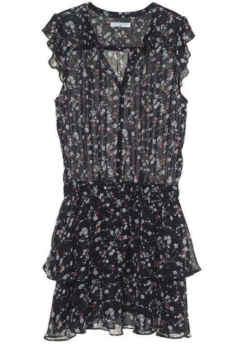 Gaby Dress Blossom Carbon