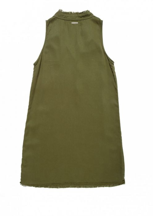 Girls Demi Dress Dark Olive