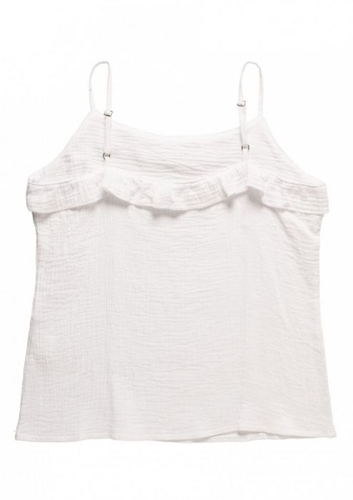 GIRLS LOT STRAP TOP White bleached
