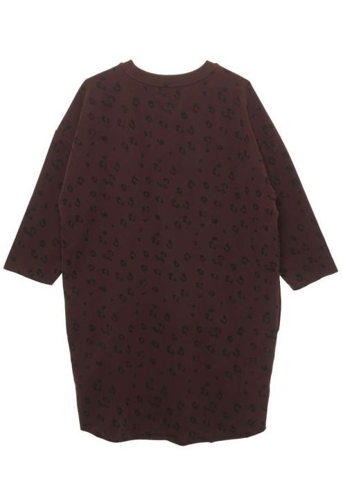 Girls Zelia Dress Burnt Bordeaux