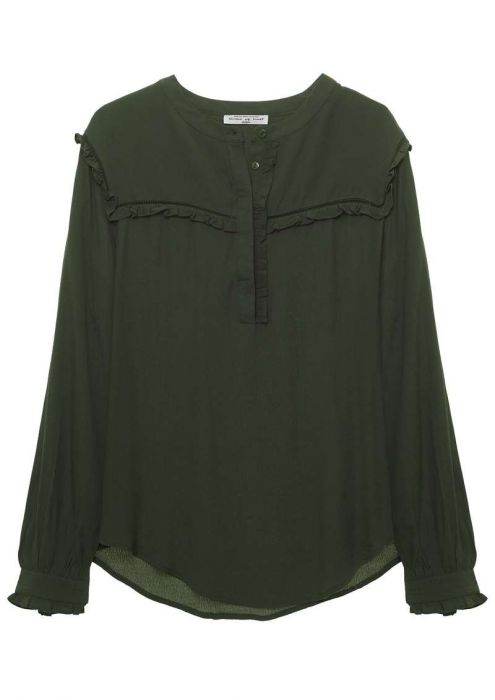 Girls Merci Blouse Dark Army
