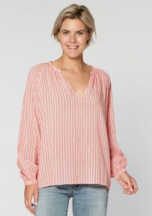 Mina Blouse Red Raspberry
