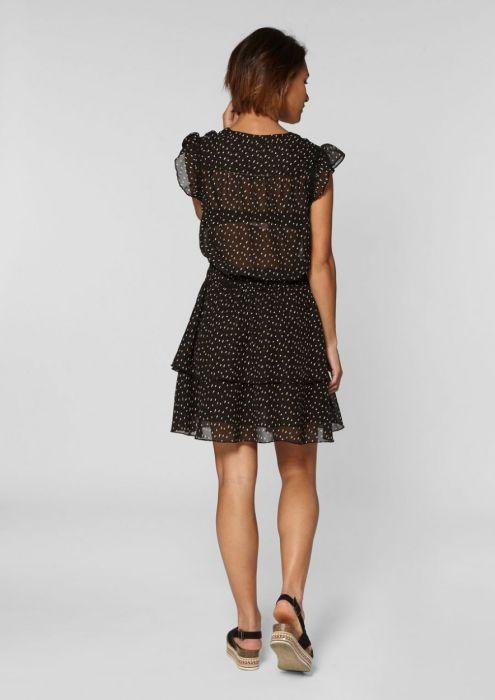 Gaby Dress Dots Moss Army