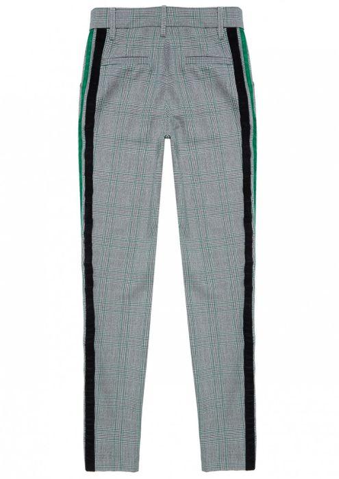 Girls Aggy geruite broek met groene accenten