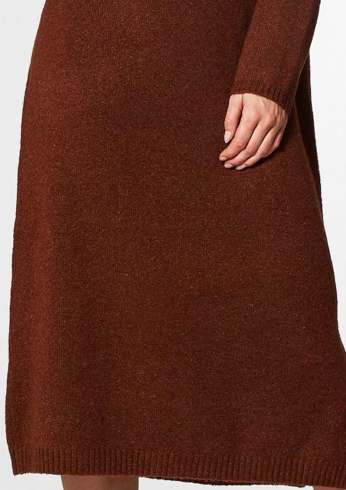 Maggie Knit Dress Rusty Brown